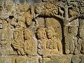 Lalitavistara - 017 E-9, Goddesses visit Queen Maya who has vowed Celibacy (detail) (8599251190).jpg