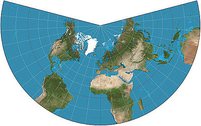 Lambert conformal conic projection