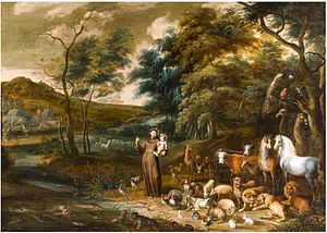 Lambert de Hondt the Elder - St. Francis with the Animals, a collaboration with Willem van Herp