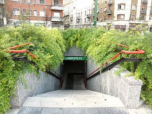 Milan Metro Line 2 - The Lambrate FS station entrance.