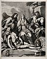 Lamentation over the dead Christ. Engraving after P. Champag Wellcome V0034791.jpg