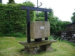 Bashall Eaves village in the United Kingdom