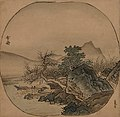 Landscape in Imitation of Xia Gui (倣夏珪山水図) by Sesshu.jpg