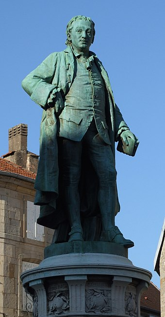 Statue of Denis Diderot in the city of Langres, his birthplace Langres - Denis Diderot.jpg