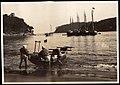 Launching a Boat in Japan (1915 by Elstner Hilton).jpg