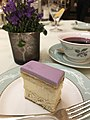 Lavender cake, High Tea at the Savoy Hotel, London.jpg