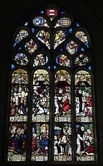 Vitrail de Saint-Fiacre de la chapelle Saint-Fiacre (Le Faouët)
