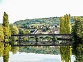Le pont ferroviaire, vu de la passerelle de l'euro véloroute.jpg