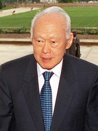 Lee Kuan Yew, the first prime minister of Singapore