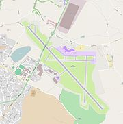 Leeds Bradford International Airport street map 2012.
