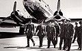 Left to right Adel Hafez, unknown, King Hussein of Jordan, Gamal Adel Nasser, Abdel Hakim Amer.jpg