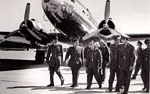 Adel Amin Hafez - Image: Left to right Adel Hafez, unknown, King Hussein of Jordan, Gamal Adel Nasser, Abdel Hakim Amer