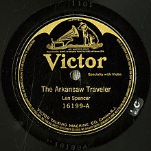 Len Spencer, The Arkansaw Traveler, Victor 16199-A label.jpg