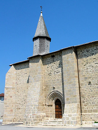 Les Billanges - The church of the Nativity of Saint-Jean-Baptiste, in Les Billanges