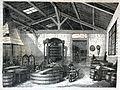 """Les merveilles de l'industrie, 1873 """"Dégorgeage des peaux huilées, pour le chamoisage"""". (4727190908).jpg"""