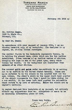 Typescript letter, with Tarzana Ranch letterhe...