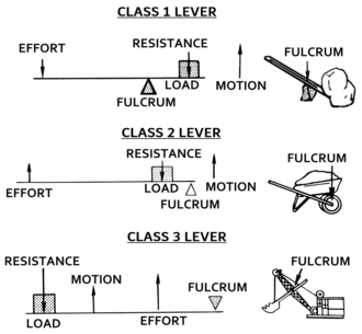Lever - Three classes of levers