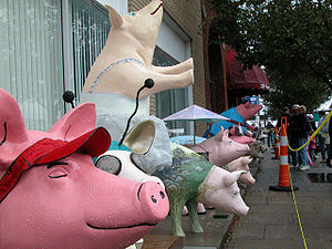 Davidson County, North Carolina - Pigs on Parade during the Lexington Barbecue Festival