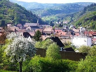 Lièpvre - Lièpvre seen from Hoimbach