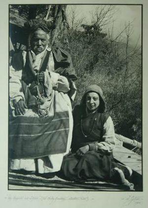 Li Gotami Govinda - Li Gotami in Tibet with Ajo Repa Rinpoche in 1948.