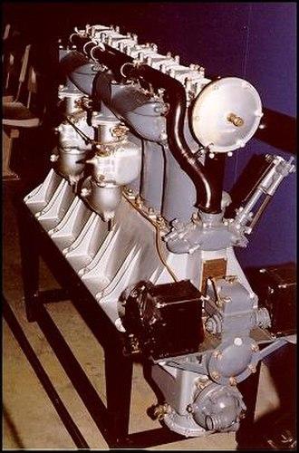 Liberty L-6 - Rear view of restored Liberty Six engine