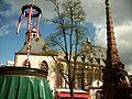 Liebfrauen Brunnen und Liebfrauenkirche Liebfrauenberg Frankfurt am Main May 2015.JPG