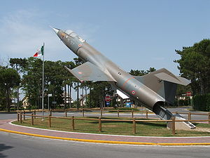 Aeritalia F-104S Starfighter - F-104S on display at Lignano Sabbiadoro, in north-eastern Italy