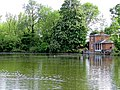 Lilypond Cottage fishing lodge and lake at Matching, Essex, England 02.jpg