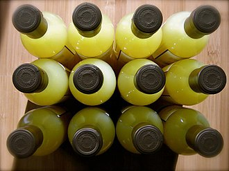 Limoncello - Limoncello bottles viewed from top