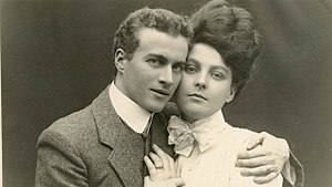 Engagement - Engagement photograph of Lionel Logue and Myrtle Gruenert, 1906.