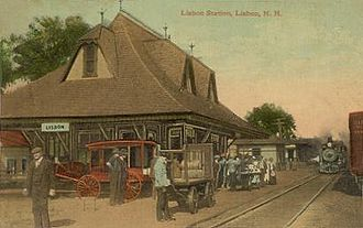 Lisbon, New Hampshire - Lisbon Station in 1912