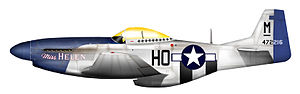 113th Operations Group - P-51D-15 of 352d FG/487th FS ace, Capt. Ray Littge