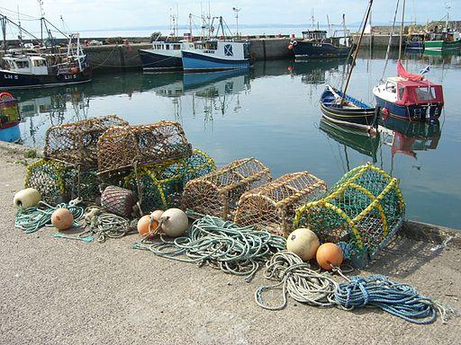 Lobster creels at Port Seton Harbour