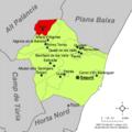 Localització d'Algar respecte del Camp de Morvedre.png