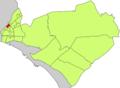 Localització de Son Fortesa sud respecte del Districte de Llevant.png
