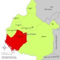 Localització de Venta del Moro respecte de la Plana d'Utiel.png