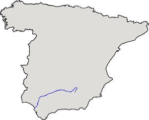 Localización del río Guadalquivir respecto de ...