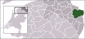 Oldambt (municipality) - Image: Locatie Oldambt