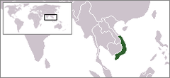 Sydvietnams beliggenhed