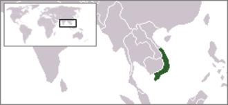 Provisional Revolutionary Government of the Republic of South Vietnam - Image: Location South Vietnam