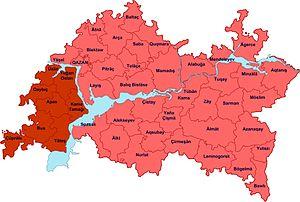 Taw yağı - Location of Taw yağı in Tatarstan.