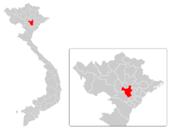 Provincial location in Vietnam