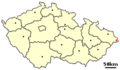 Location of Czech city Jablunkov.png