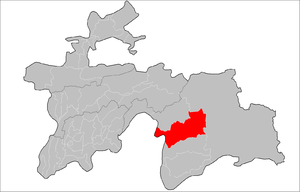 Rushon District - Image: Location of Rushon District in Tajikistan