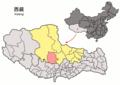 Location of Xainza within Xizang (China).png