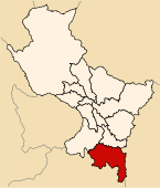 Location of the province Espinar in Cusco.svg