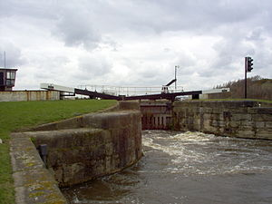 Aire and Calder Navigation - One of the large locks