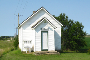 National Register of Historic Places listings in Clay County, Iowa - Image: Logan Ctr School (5)B
