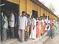 Long queue of voters at a polling booth in Ernakulam of Kerala on May 10, 2004.jpg