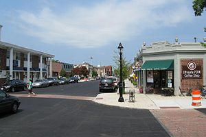 Andover (CDP), Massachusetts - Looking north on Main Street